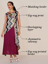 Zig-zag Printed Asymmetric Double Layered Kurti