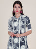 Tie-Up Patch Work Belted & Tasselled Asymmetric Cotton Kurti