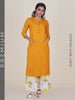 Princess Panelled Kurti with Marigold Printed Palazzo - Yellow