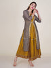 Dabka & Beads Work Striped Jacket With Tiered Layered Kurti