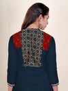 Abstract Panel Printed & Embellished Kurti