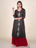 Zari Work Abstract Leaf Buta Embellished Kurti