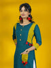 Wooden Barfi Buttoned & Tasseled Patch Pocket Detailing Kurti
