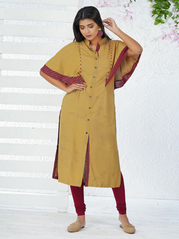 Cape Sleeved Embroidered & Beaded Kurta