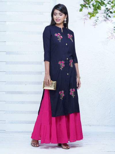 Sequins and Cutdana Embroidered Kurta