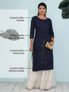 Crystal Hotfix Embroidered Kurti