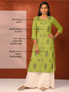 Multicolor Floral Embroidered & Mirror Work Kurti