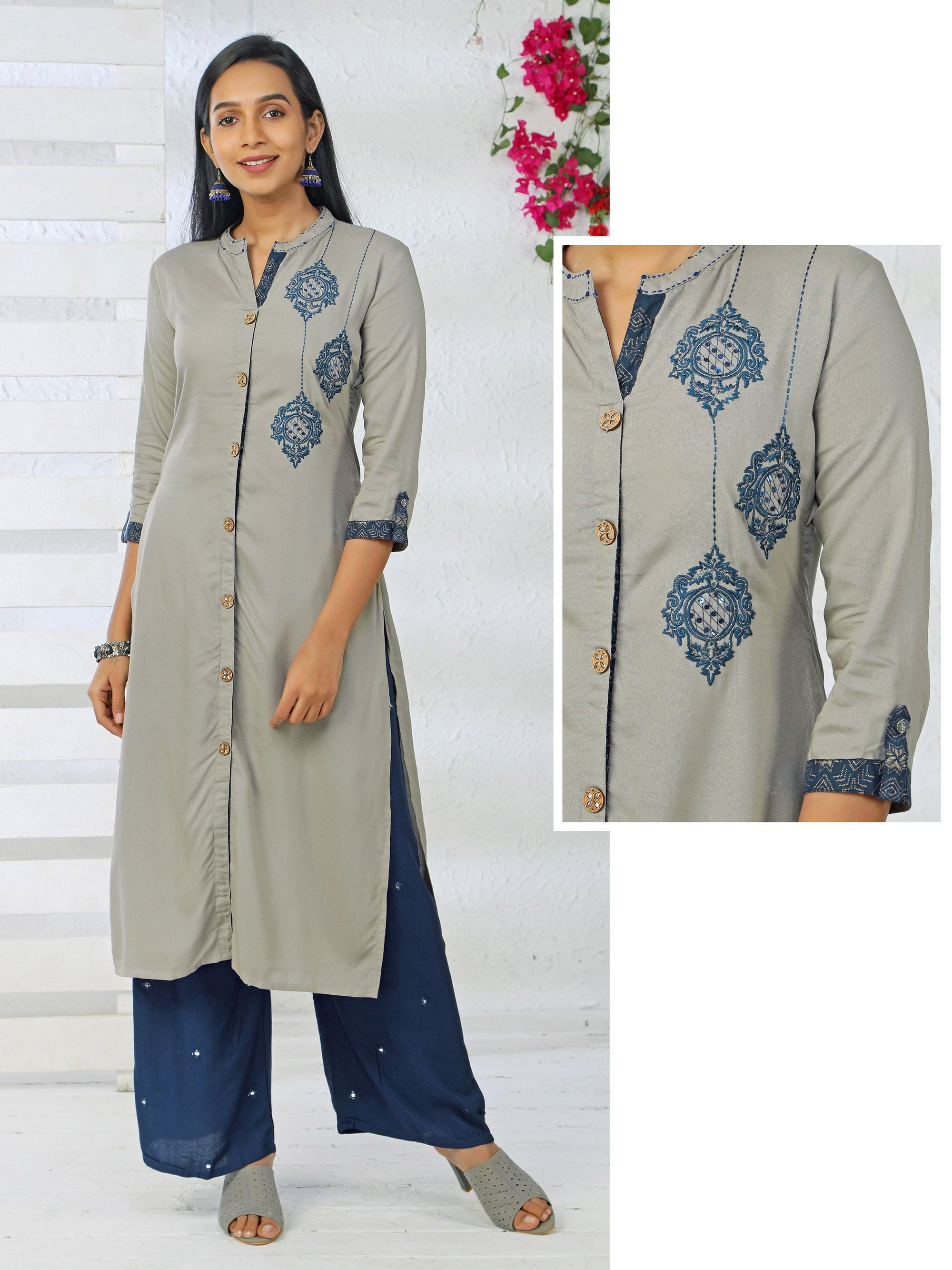 Chandelier Embroidery and Sequins Kurta