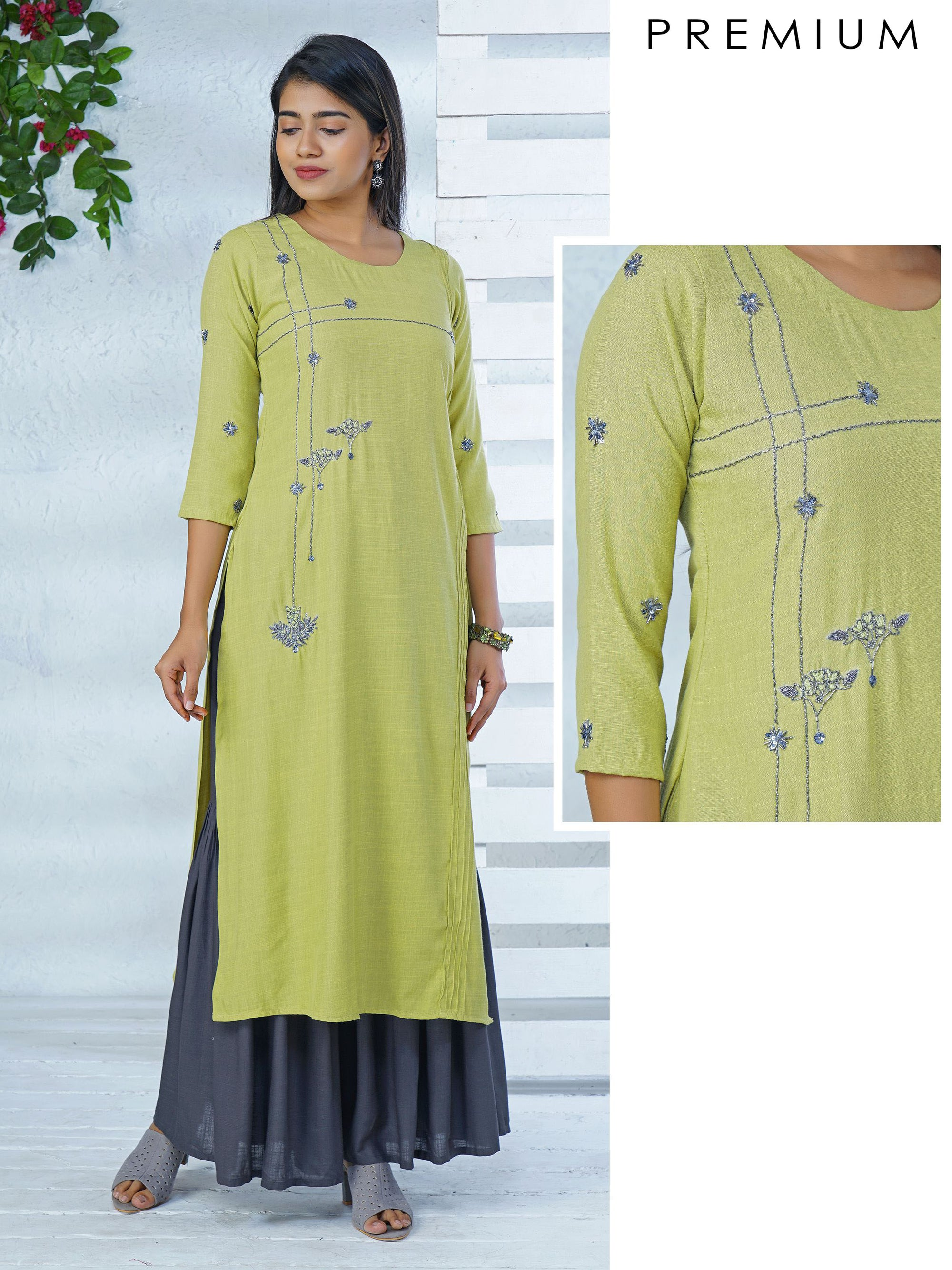 Embellished Beaded Floral Kurta