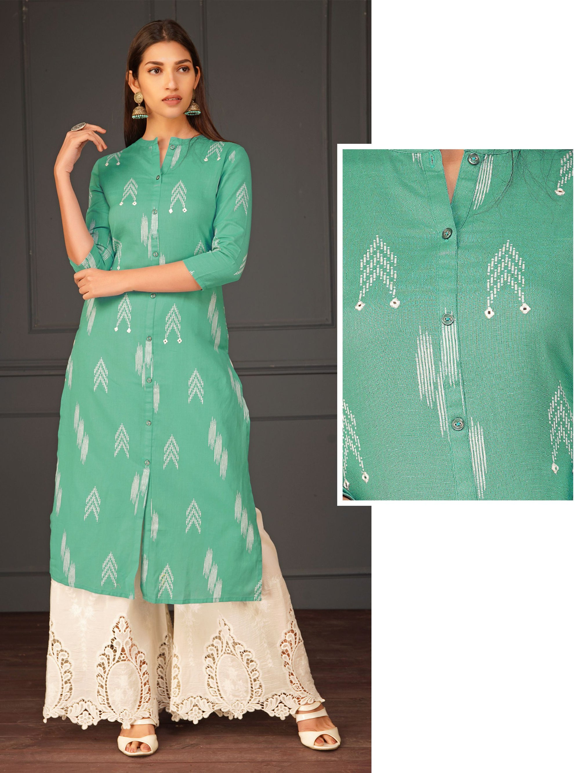 Ikkat Arrow Printed Kurti