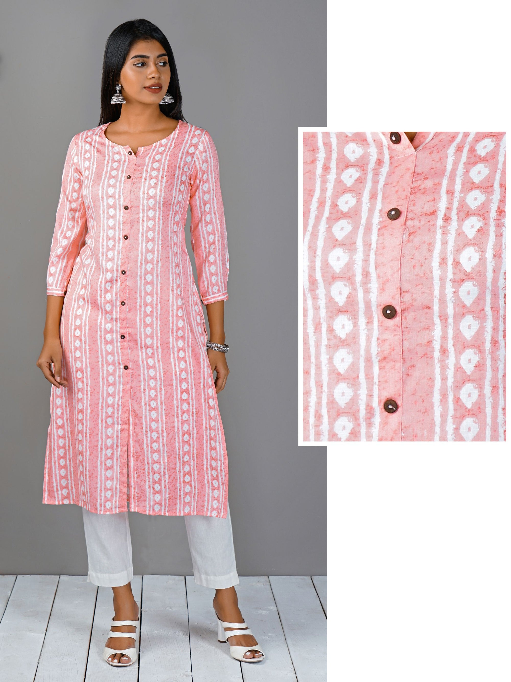 Tilak Striped Cotton Kurti
