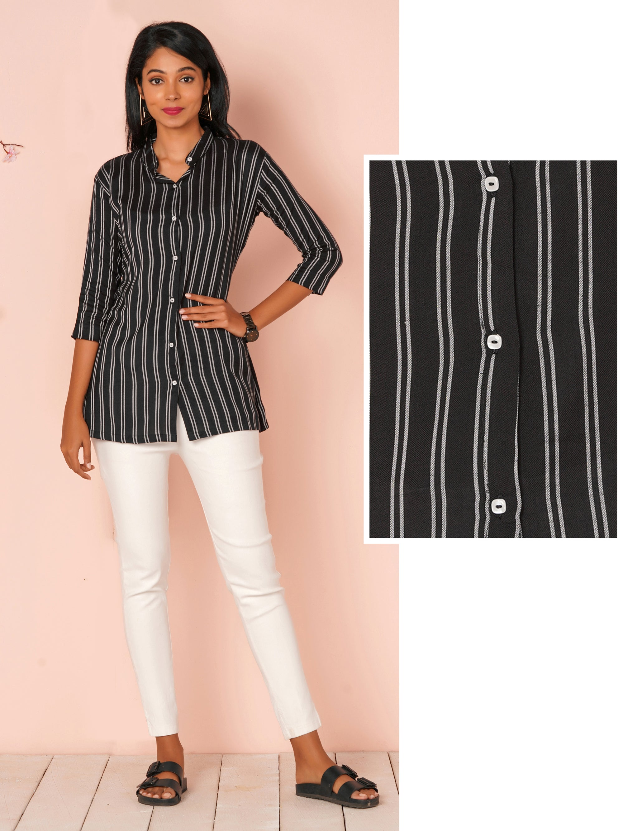 Double Striped Button-Down Shirt