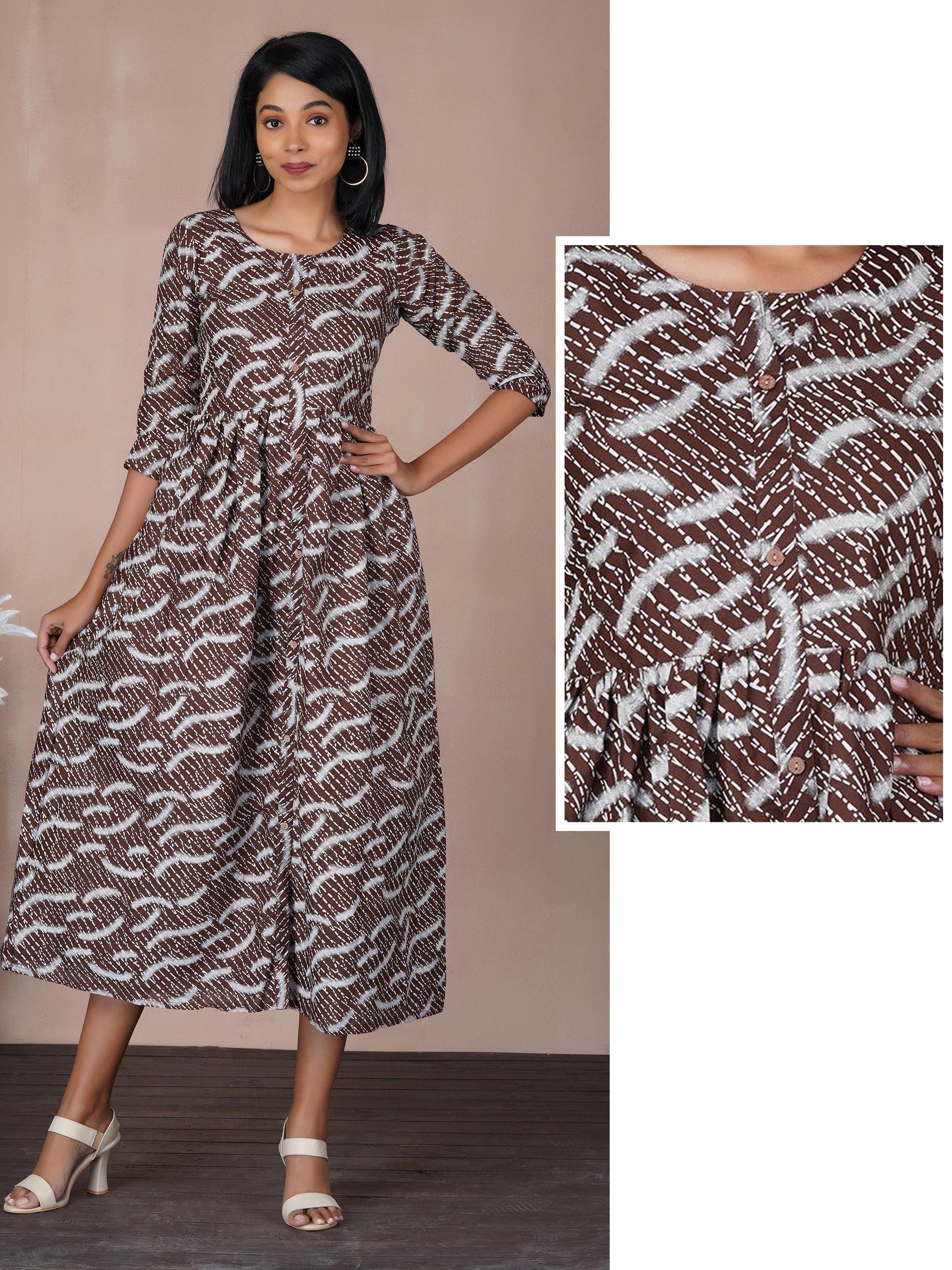 Abstract Printed Cotton Maxi