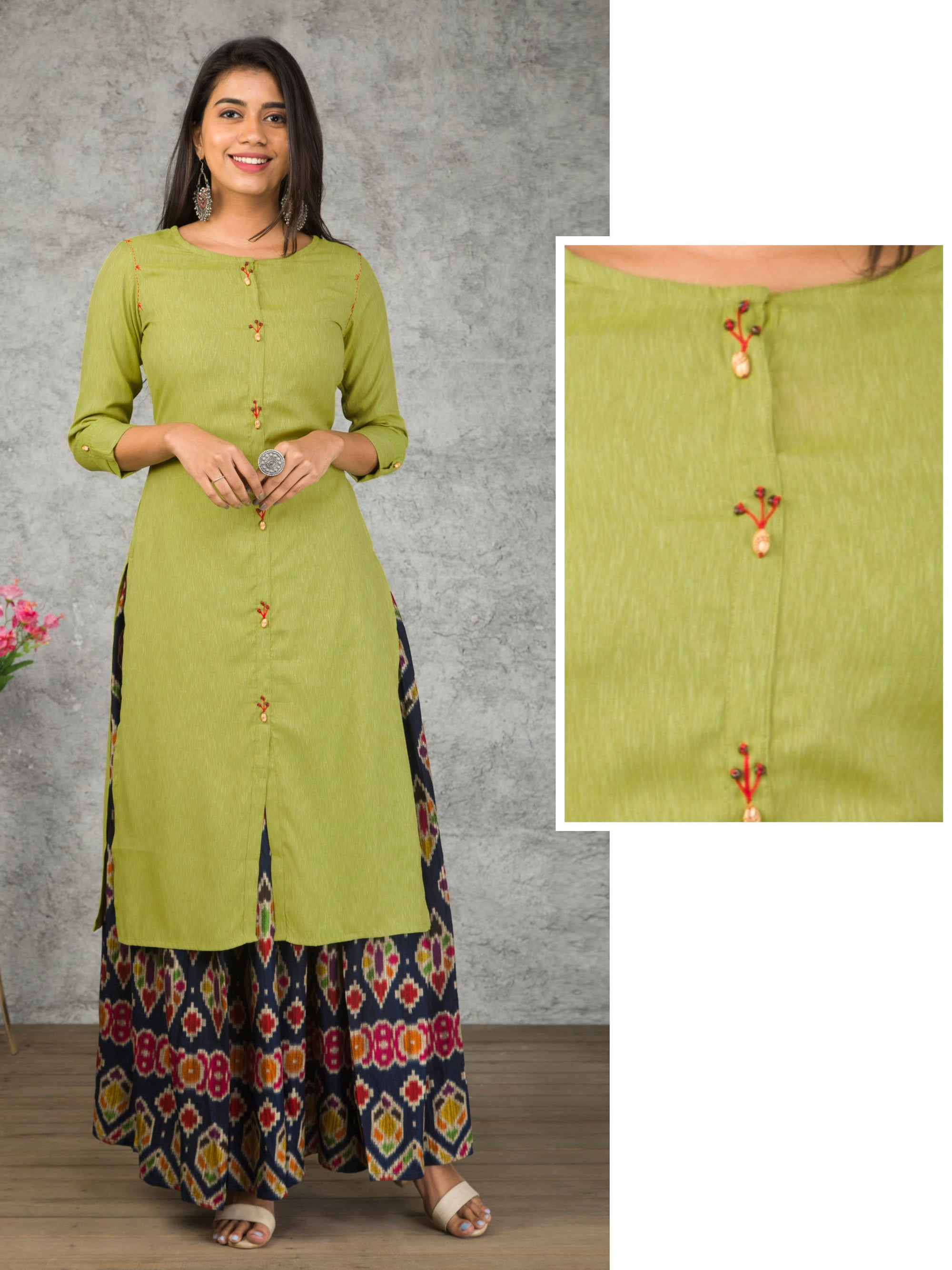 Wooden Beads Detailed Kurti
