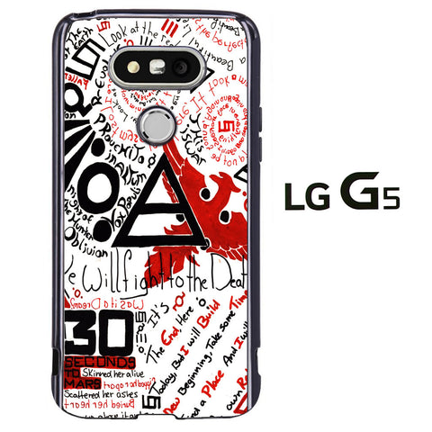 30 Second to Mars Quotes LG G5 Case - ggians