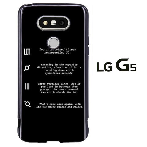 30 Second to Mars Symbol Definition LG G5 Case