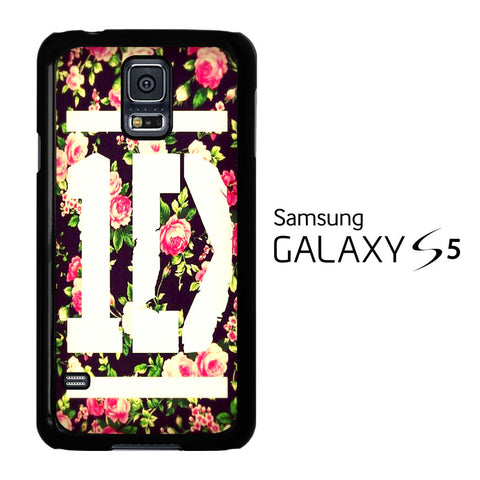 1D Logo Flower Samsung Galaxy S5 Case - Samsung Galaxy S5 case