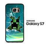Minecraft Creeper Glass Broken Samsung Galaxy S7 Case