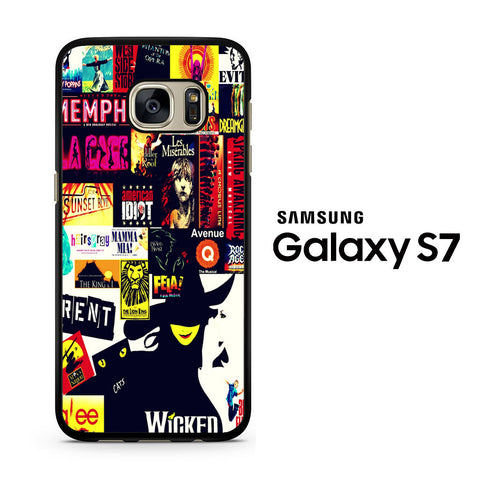 Broadway Musical Collage Samsung Galaxy S7 Case