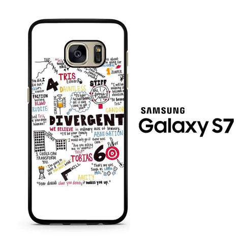 Divergent Collage by Veronica Roth Samsung Galaxy S7 Case