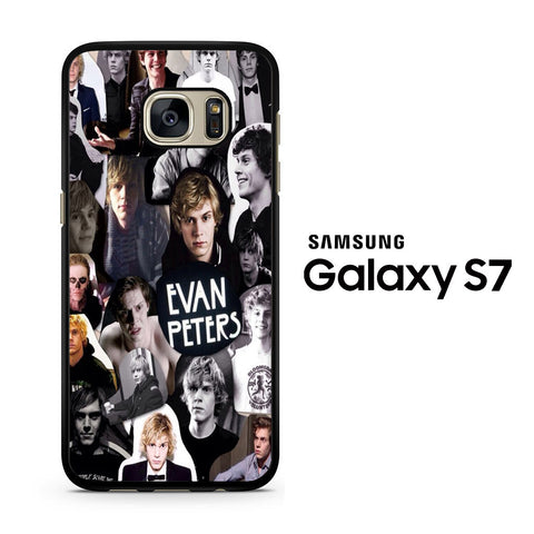 Evan Peters Collage Samsung Galaxy S7 Case