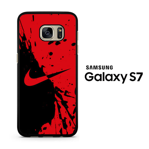 Nike Red and Black Samsung Galaxy S7 Case