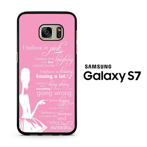 Audrey Hepburn Quotes in Pink Samsung Galaxy S7 Case