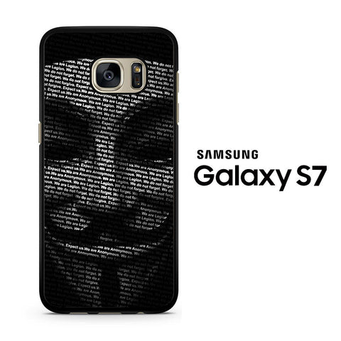 Guy Fawkes Mask Anonymous Samsung Galaxy S7 Case