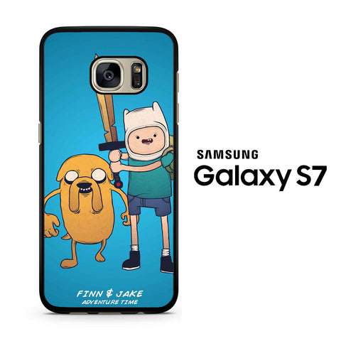 Adventure Time with Finn & Jake Seriously Face Samsung Galaxy S7 Case