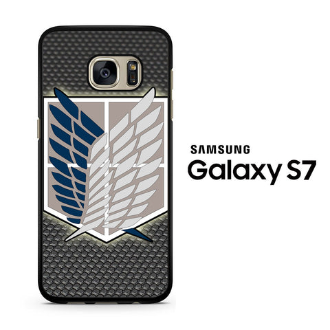 Attack Of Titans, scouting legion logo Samsung Galaxy S7 Case