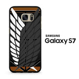 attack on titan logo carbon custom Samsung Galaxy S7 Case