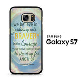 Divergent Quotes Samsung Galaxy S7 Case