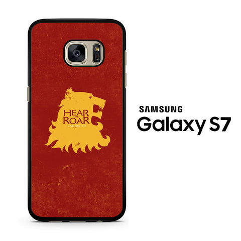 Game Of Thrones - Lannister Hear me Roar Samsung Galaxy S7 Case