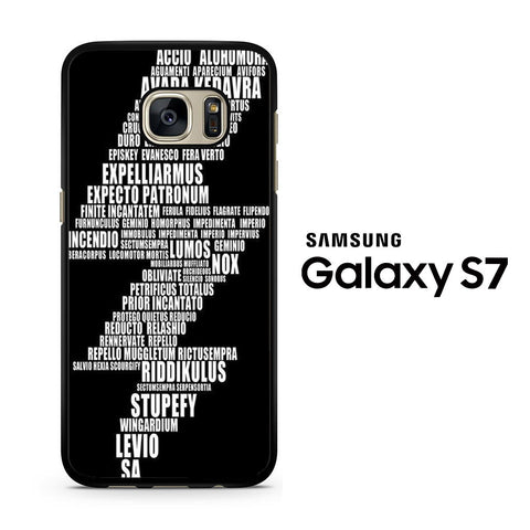 Harry Potter Spell Black Cover Samsung Galaxy S7 Case