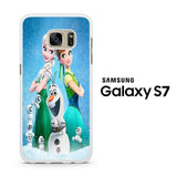 Frozen Fever in Snow Samsung Galaxy S7 Case