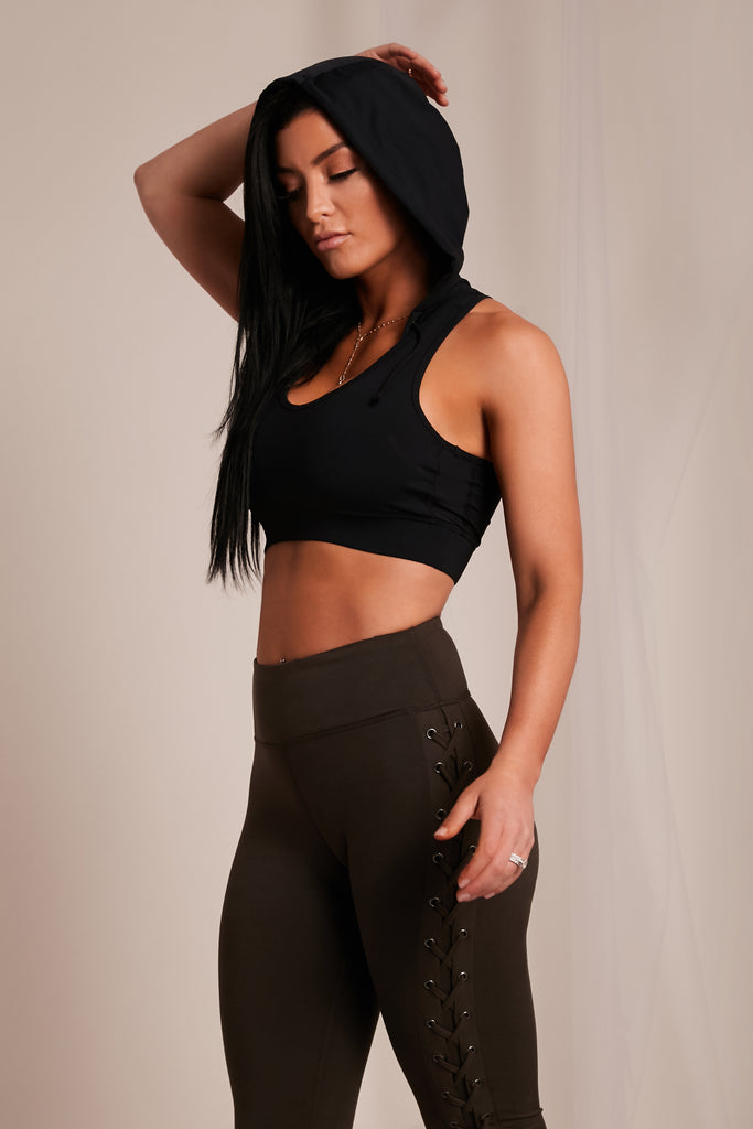 Hoodie Sports Bra - NEM Fashion Store