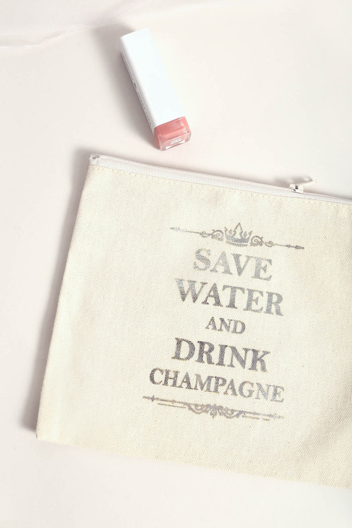 Drink Champagne Makeup Bag - NEM Fashion Store