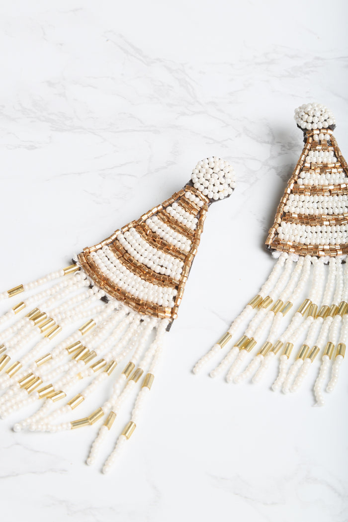 Don't Miss A Bead Tassel Earrings - NEM Fashion Store