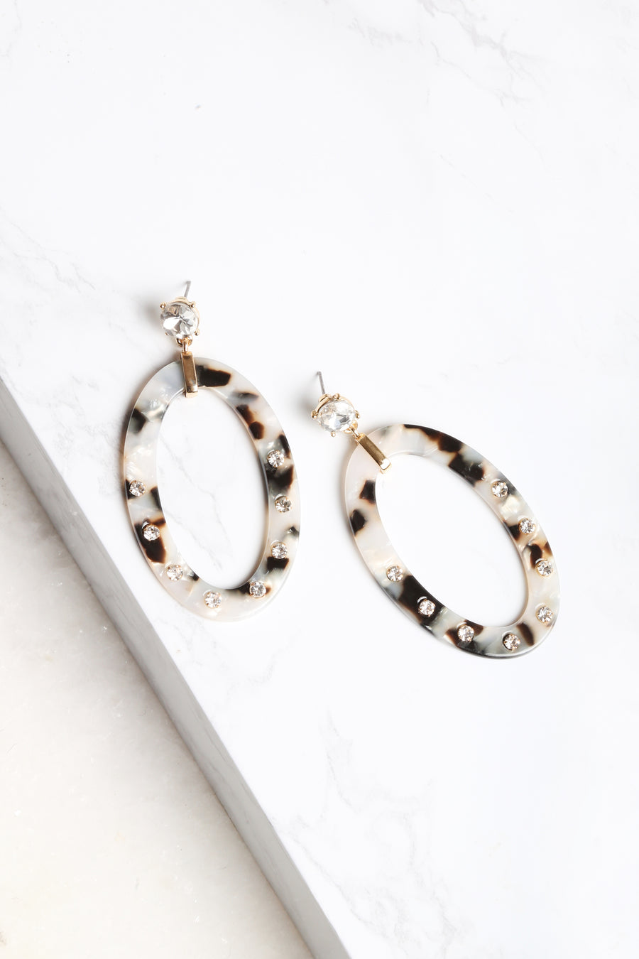 Marble Lust Tortoise Earrings - NEM Fashion Store