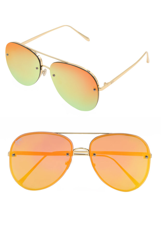 Linda Sunnies | Mirrored Gold - NEM Fashion Store