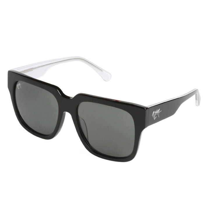 High Gloss Black Contrast White Sunnies - NEM Fashion Store