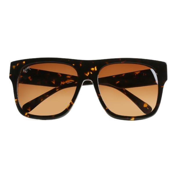 Dark Tea Flower Amber Tint Sunnies - NEM Fashion Store