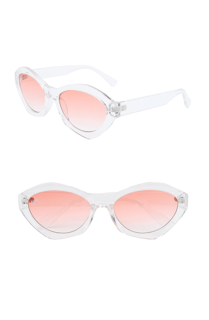 Bella Oval Sunnies | Pink - NEM Fashion Store