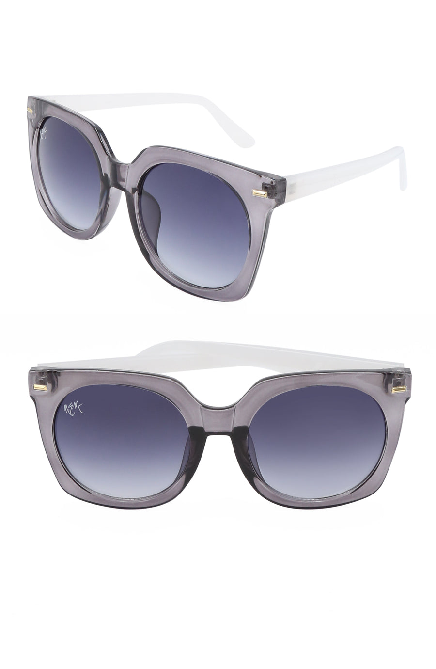 Melrose Sunnies- BWhite - NEM Fashion Store
