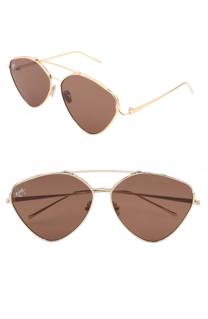 Sweet Heart Aviator | Amber Brown - NEM Fashion Store