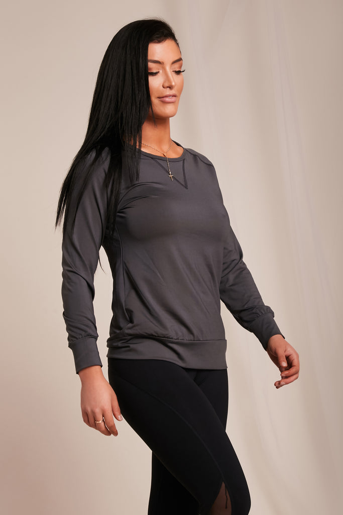 Work Out Top Gray - NEM Fashion Store