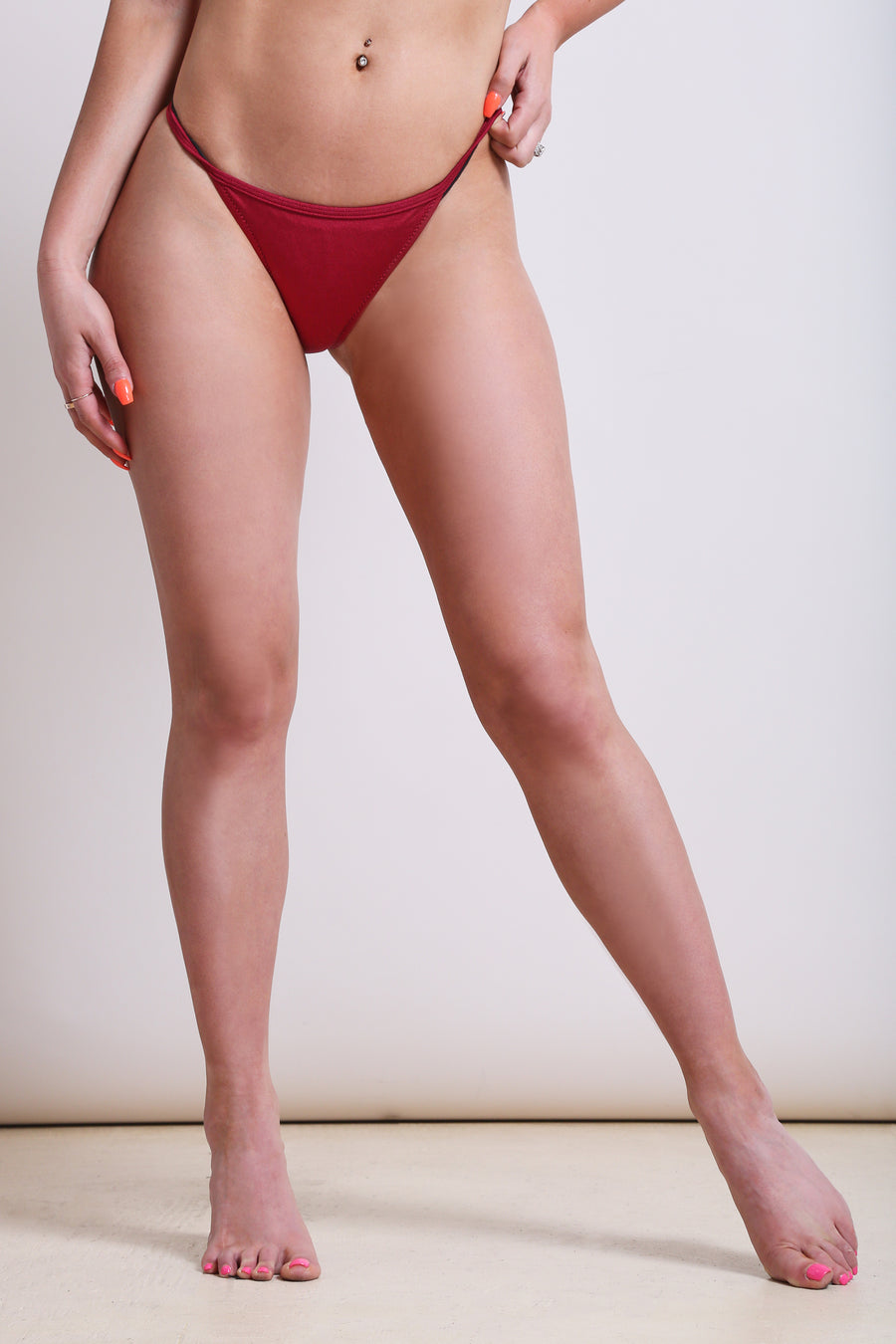 Cancun Bikini Bottoms - Burgundy - NEM Fashion Store