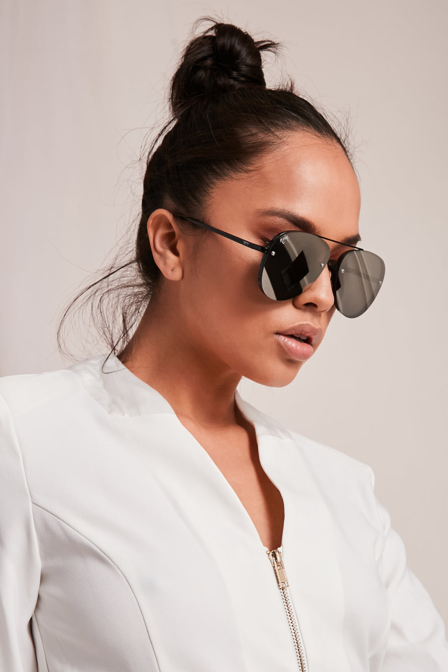 Silver On Black Sunnies | Fade To Black Collection
