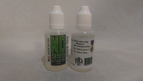 ND-999 Ultra-Refined Oil Lubricant (1oz/30mL)