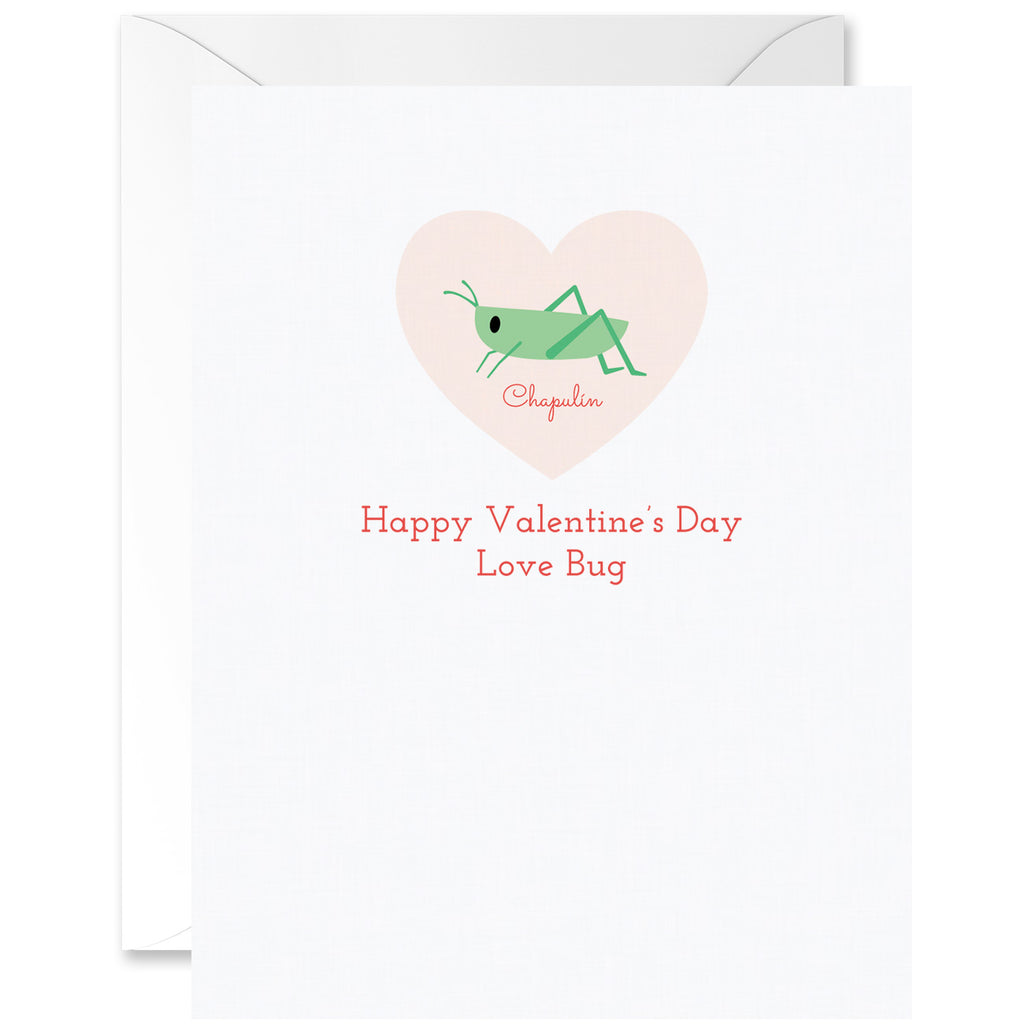Chapulín Love Bug Valentine's Greeting Card [English]
